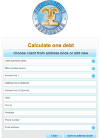 Calculate one debt