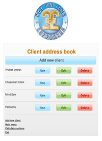 Client address book